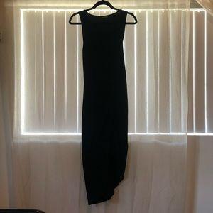 Express. Black sleeveless below the knee dress